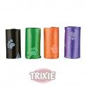Rollos de 12 bolsas basura L, 4 rollos colores surtidos